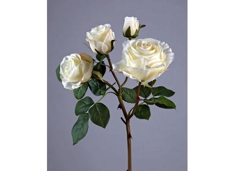Роза Флорибунда ветвь св.розовая 3цв, 1бут в-60 см 12/48